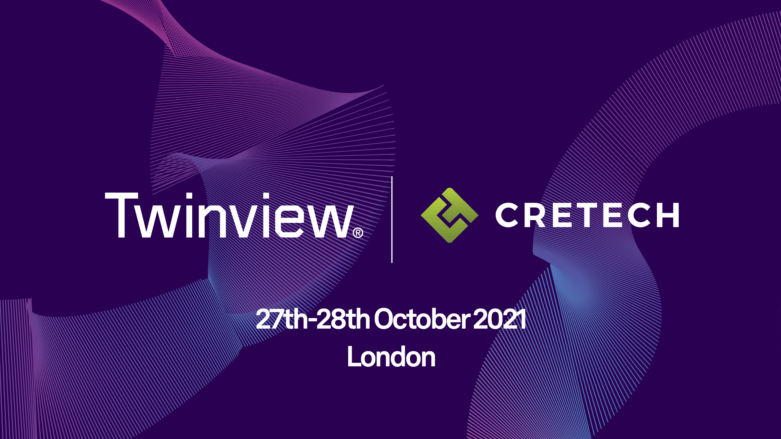 Twinview exhibiting at CRETech in London